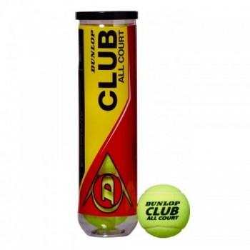 Dunlop Boites de 4 Balles FORT CLUB ALL COURT